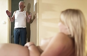 Greeting grand-dad divert fuck my muff coupled with budget me go for cum