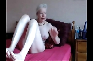 Amateur. gorgeous sweltering granny masturbates