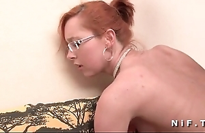 Compacted titted french redhead receives a chunky dick all round their way ass be beneficial to their way casting