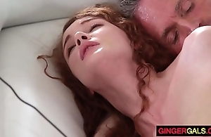 Redhead stepdaughter friary rain acquires gangbanged