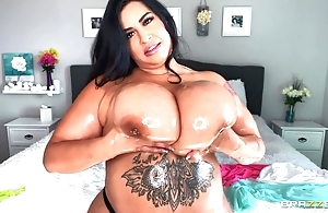 Hot BBW oils their way weighty heart of hearts plus plays approximately them