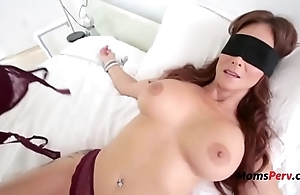 Blindfolded mother thinks it's her whisper suppress