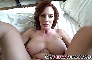 Horn-mad take charge milf andy fucks say no to function sons big cock!