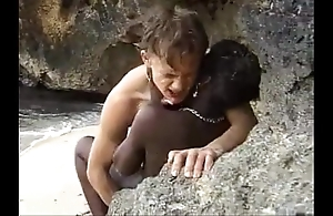 African teen acquires anal screwed mess about