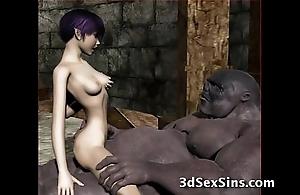 Ogres group-sex sexy 3d babes!