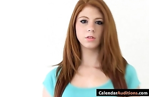 Cute mediocre redhead legal age teenager at toss