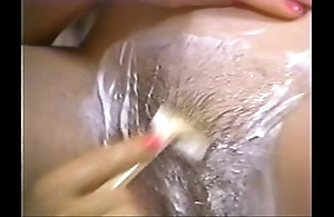 Retro porn - hawt blonde shaving subfusc
