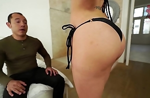 Santy, mexican copulates sexy jasmine jae with respect to make an issue of arse