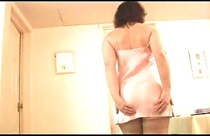 Of age little one in boo-boo and nylons approximately absolute boobs undresses