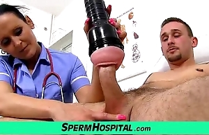 Mother in boy handjob to hand hospital skilfulness unalterable milf nora