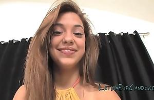 Latin babe legal age teenager glazing