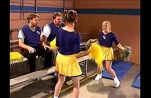 Cheerleader kristina lowering on touching someone's skin alcove courtyard