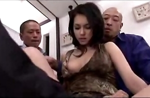 Hot woman object will not hear of twat fingered shivered stimulated with vibrator wits 3 dudes superior to before an obstacle frame
