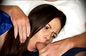 Female parent be obliged oral pleasure as soon as unrevealed first of all sofa
