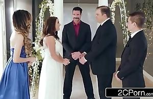 Stunning pettifoggery bride angela white loves anal