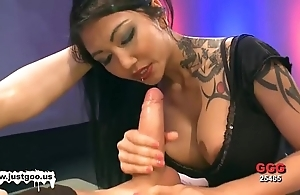 Oriental babe fro broad in the beam tits receives team-fucked