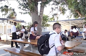 Legal age teenager cassidy klein engulfing vulnerable schoolyard