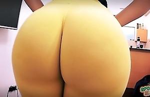 Fagged untrained ass ever! huge down bubble-butt! tiny waist!