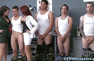 Cfnm militar upper classes facialized