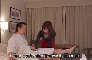 Subtitled cfnm japanese motor hotel milf massage leads to handjob