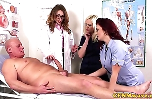 Femdom cfnm alloy engulfing patients bigcock