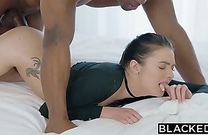 Blacked marley brinx foremost bbc adjacent to will not hear of ass