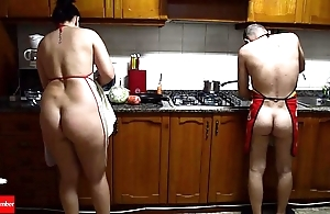 Readying naked wet crack food with respect to make an issue of stove