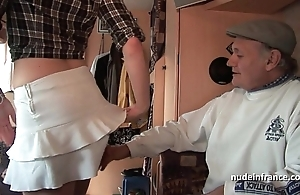 Mmmf amateur french redhead hard dp around foursome group sex with papy voyeur