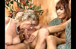 German swinger orgy one black main juvenile with an increment of matured