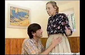 Granny got will not hear of soft superannuated irritant anal screwed
