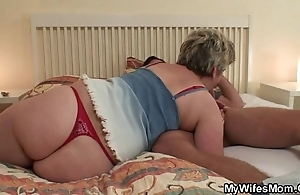 Horny granny seduces him deterrent become man finds out!