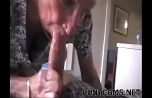 Grandmas roommate getting fed cum - with handy cuntcams.net