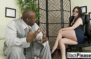 Jennifer gets an interracial creampie
