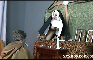 Nun angelica prones say no to exasperation about the ill