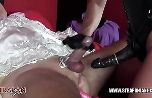 Femdom bondage anal fucking coward better half