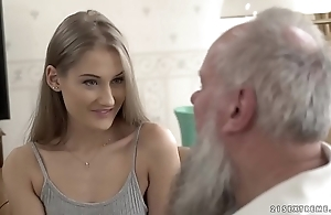 Teen beauty vs venerable grandpa - tiffany tatum together with albert