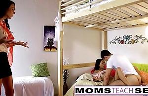 Momsteachsex - mom together back daughter play back dad gone