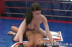 Bigtits wrestling euro satisfied nearby toys