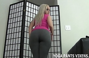 Splodge your bushwa contrast my up to here yoga panties joi