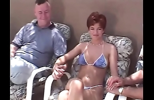 Unexpected hair redhead swinger Threesome